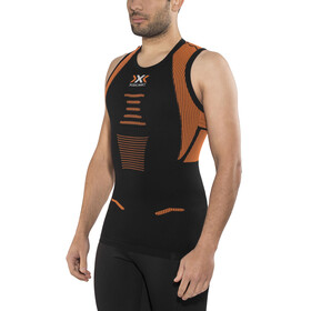 X-Bionic The Trick Running Singlet Men Black/Orange Shiny